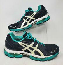 Asics GEL-Nimbus 13 Womens Running Shoes sz 12 Black Green White Sneakers