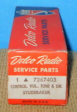 * NOS GM Delco 7267403 Radio Control-Vol Tone & Switch Studebaker Free Shipping