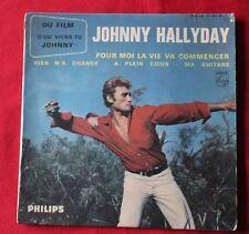 Johnny Hallyday, pour moi la vie va commencer, EP - 45 tours - pochette 2