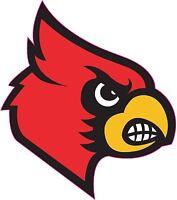 Louisville Cardinals Vinyl DieCut Sticker Decal Logo NCAA 4 Stickers