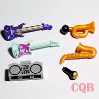 NEW LEGO Musical Instrument Collection - 6 parts - guitars saxophone horn music