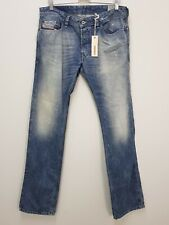 DIESEL Mens Size 33 Blue Safado Regular Slim Straight Jeans NEW + TAGS