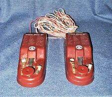VTG 1950's Official Boy Scout Twin Signal Set Telegraph Set in Original Box EUC