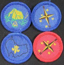 Lot of 4 Vintage Patch BSA 1970's Australian Merit Badges With Black Backs