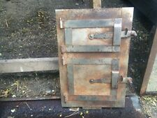 Vintage iron fire door clay / bread oven / pizza stove / smoker-