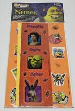 Sandylion Shrek 1 Sticker Set 2001 Dreamworks Happily Ogre After 4 Sheets