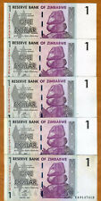 LOT Zimbabwe, 5 x $1, 2007 (2009) P-65r, aUNC > Scarce ZA Replacement