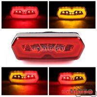 Motorcycle LED Brake Tail Light w/ Turn Signal Lamp For Honda MSX/Grom125 CB/CBR