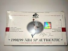 1998-99 SP Authentic Hobby Basketball Box Factory Sealed Unopened Carter Dirk...