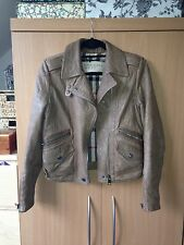 Burberry Brit biker leather jacket Size UK 8 10