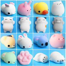 16pcs Cute Mochi Squishy Cat Squeeze Healing Fun Kids Kawaii Toy Stress Reliever