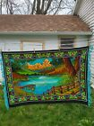 Tapestry Vintage Felt Nature Picture Lakeside Lodge Cabin Rustic Decor Wallcover