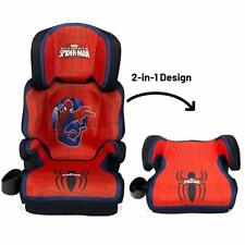 Kids Spiderman Booster Car Seat 2 In 1 Converts Cup Holder Safety Baby High Back