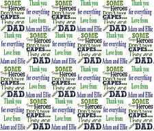 Personalised Gift Wrapping Paper FATHERS DAY SUPERHERO