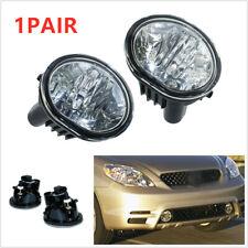 2xChrome housing Fog Light Lamps Bumper For 2003-2008 Toyota Matrix Pontiac Vibe