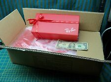 Lot of 25 NEW Ray Ban Red Box Gift Box Ribbon For Sunglasses Case Tissue 25 xmas