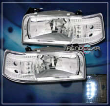 92-96 FORD F150 F250 BRONCO LED HEAD LIGHT+CORNER 94 95