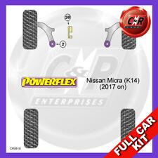 Fits Nissan Micra (K14) MK5 (2017 on)  Non Adjust Powerflex Complete Bush Kit
