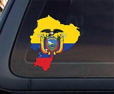 Ecuador Flag Map Car Decal/Sticker