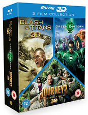 CLASH OF THE TITANS / JOURNEY 2 / GREEN LANTERN - 3D TR - BLU-RAY - REGION B UK