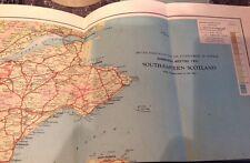 SCOZIA sud-orientale della mappa. 1951. il progresso della scienza MAP. Edimburgo 1951
