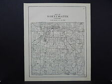Wisconsin, Walworth County Plat Map 1936 Whitewater Township L21#05