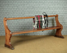 Antique Long Pine Tack Room or Hall Bench c.1890.