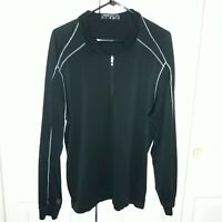 Nike Golf Dri Fit Zip Up Pullover Black Size Medium