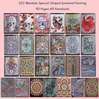 5D DIY Mandala Diamond Painting 50 Sheets A5 Notebook Diary Book Sketchbook