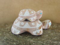 Zuni Indian Hand Carved  Mother and Baby Turtle Fetish by Russell Shack FF171