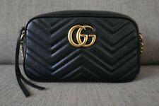 Pre-Sale! EUC Authentic Gucci GG Marmont Matelassé Small Bag Black