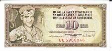 YUGOSLAVIA BANKNOTE  10 P87b 1981 aUNC