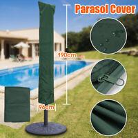Sonnenschirm Schutzhülle UV Schutzhaube Ampelschirm Gartenschirm Abdeckung Grün