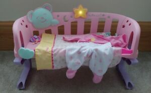 Nenuco Sleep With Me Doll Cot Cradle Bed and Accessories