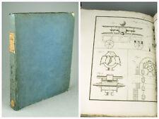 Traité de Mécanique Industrielle 1825 CHRISTIAN Atlas 60 planches Livre ancien