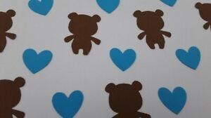 Teddy Bear confetti, 150 Pieces, Brown Bear Confetti, Boys Birthday