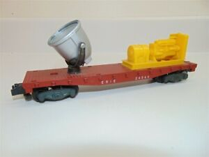 Vintage American Flyer 24549 Erie Searchlight Flat Car Red/Silver/Yellow S Gauge