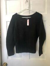 Victorias Secret Black Fuzzy Sweater NWT Size XS