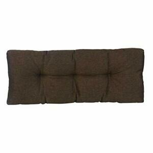 "Klear Vu The Gripper Non-Slip Tufted Omega Universal Bench Cushion Chestnut 36"""