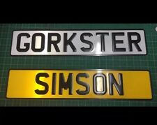 PAIR OF NAME PLATE SIGN WHITE AND YELLOW