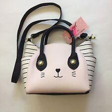 NWT Luv Betsey by Betsey Johnson Cat Satchel Crossbody Bag/Purse Katt/Pink