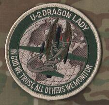 """USAF CIA U-2 DRAGON LADY burdock SSI: """"IN GOD WE TRUST, ALL OTHERS WE MONITOR"""""""