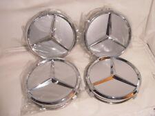 4x Mercedes Abdeckung Naben kappe Nabendeckel Alufelge 75mm Silber für alle orig
