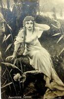 Postcard Antique Russia postcard Bodenhausen Fairy Tale Girl Owl Old postcard