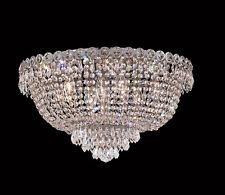 """World Capital Empire 20"""" 9 Light Flush Mount Crystal Chandelier Lighting Chrome"""