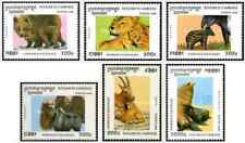 Timbres Animaux Cambodge 1358/63 ** lot 26764
