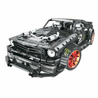 TECHNIC Car Ford Mustang 1965 Hoonicorn RTR V2 Racing street Auto Bricks MOC
