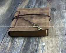Vintage Diaries Journals notebook genuine leather with key rope D0703
