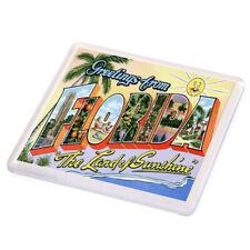DRINK COASTER - Florida. The Land Of Sunshine - Vintage Travel Poster