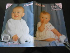 PATONS KNITTING BOOK 789 * BABY FAVOURITES * 11 PATTERNS *